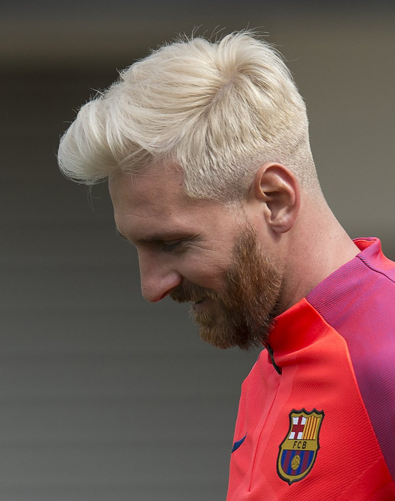 Moustache Wallpaper Hd Lionel Messi Blonde Hairstyle 2016 Inspirationseek Com