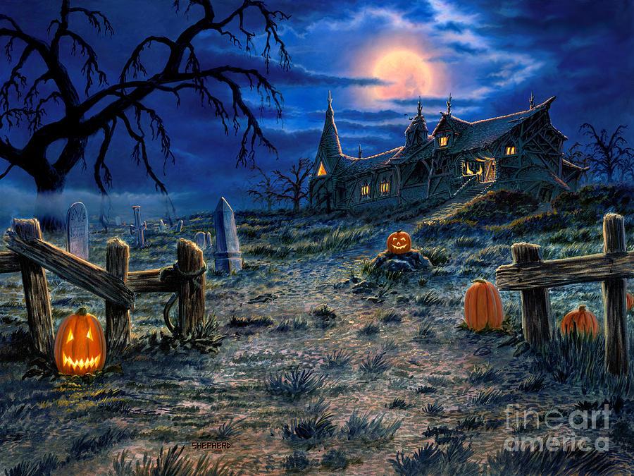 Ghost House Wallpaper Hd 3d 30 Halloween Artwork Ideas Inspirationseek Com