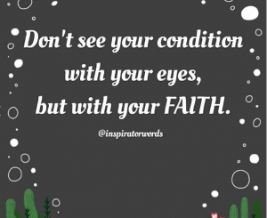 see with faith