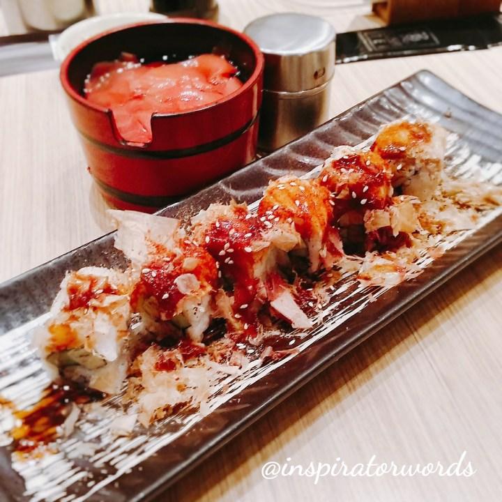 sanshoku aburi roll sushi tei