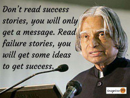 abdul kalam success stories quote, abdul kalam success quote, abdul kalam failure quote