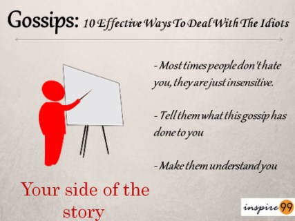 preventing gossips, stop people from gossiping