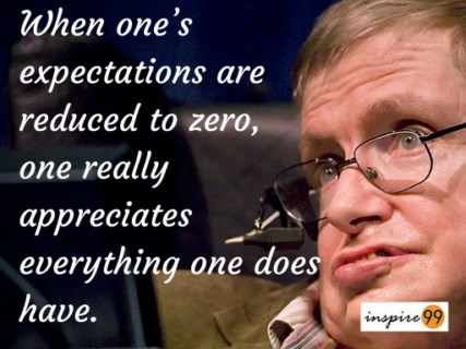 Stephen Hawking quotes, Stephen Hawking expectations quote