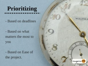 Time management, Prioritizing time