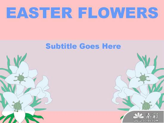 European And American Easter Flower Ppt Template PPT