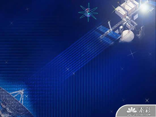 Space Satellite Communications Technology Ppt Template PPT