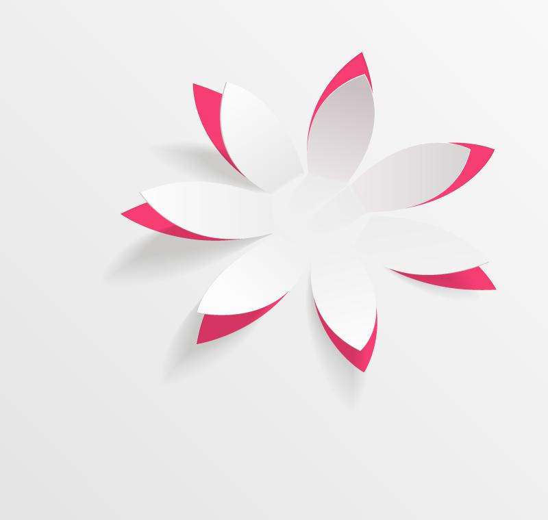 Foundation Of White Paper Flowers Vector AI