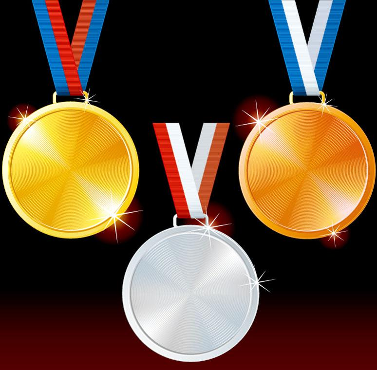 Exquisite Olympic Medals Design Template Vector EPS
