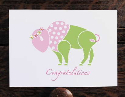 New Baby Girl Congratulations Card - Inspired Buffalo