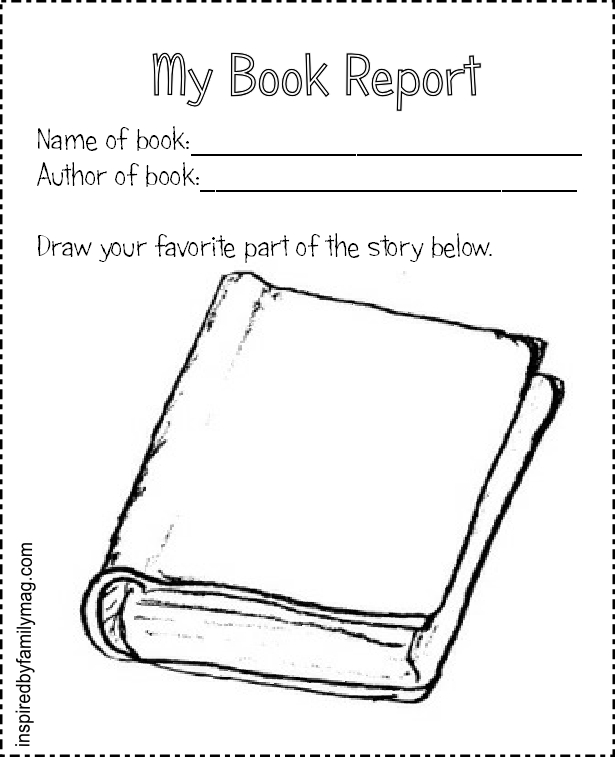 Printable Book Report Forms {Elementary} - Inspired by Family - printable book report forms