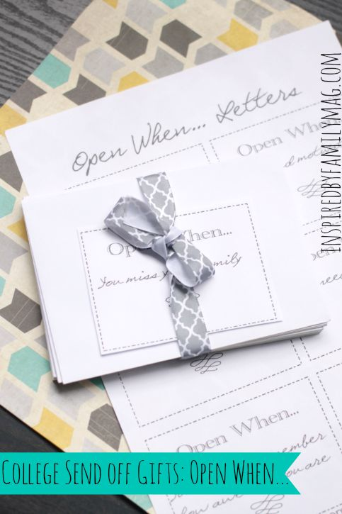 Great College Send Off Gifts Open When Letters
