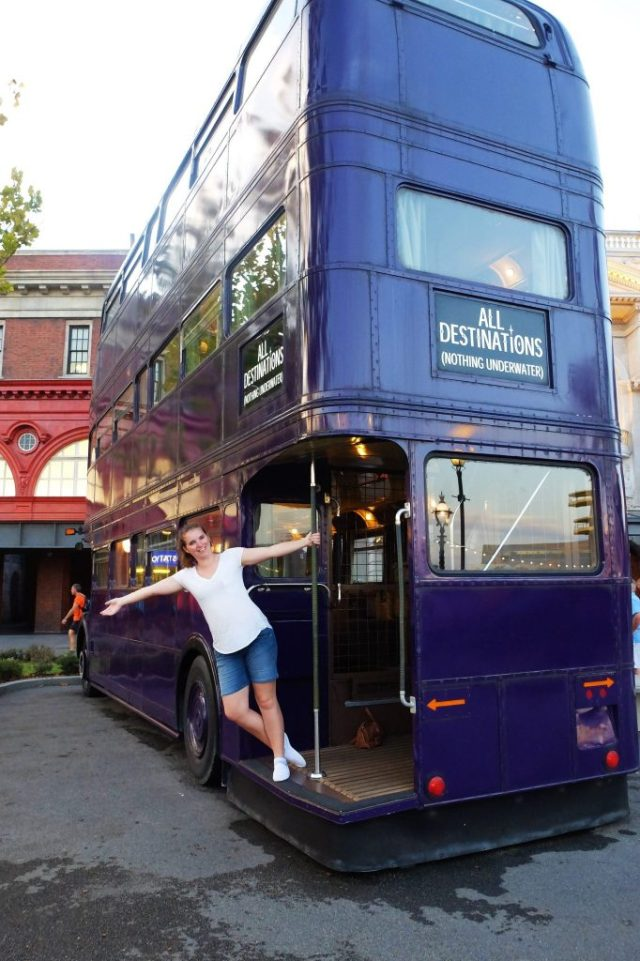 The Knight Bus – You can't actually go on it past the little alcove shown in this photo