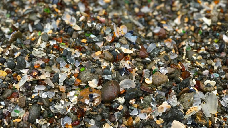 Glass Beach In Fort Bragg (Three Glass Beaches On One Coastal Trail)