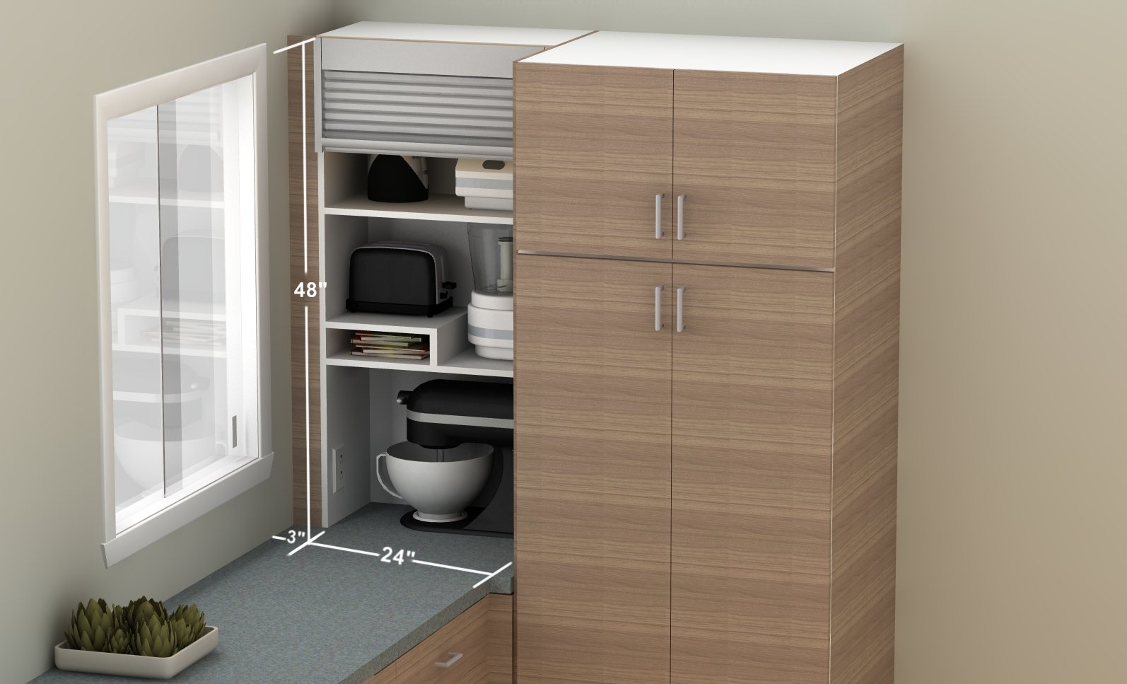Küchenschrank Mit Rolladen How To Hide Smaller Appliances In Your Ikea Kitchen