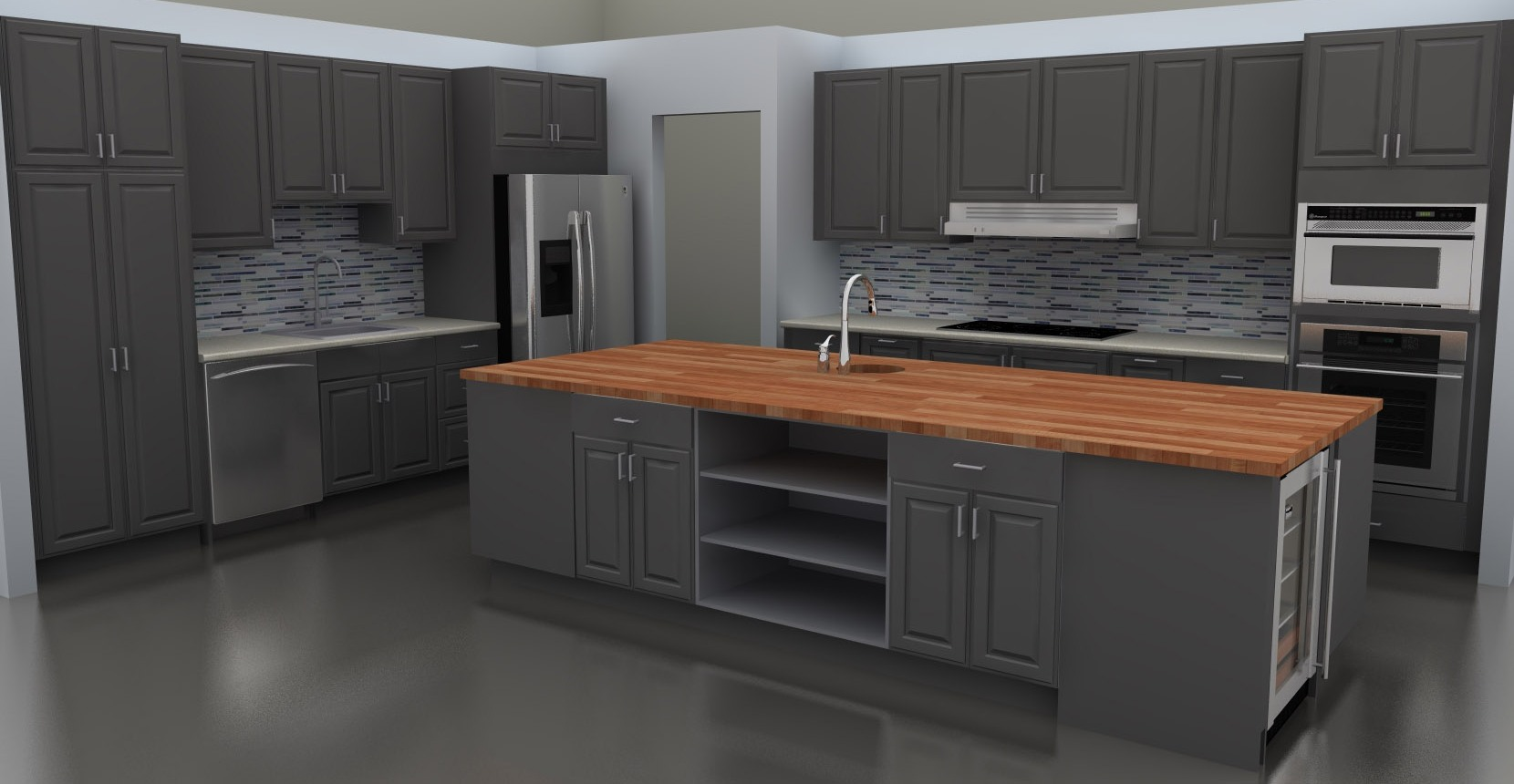 Kitchen Design Cabinets Examples Ikea Butcher Block Counter On Island