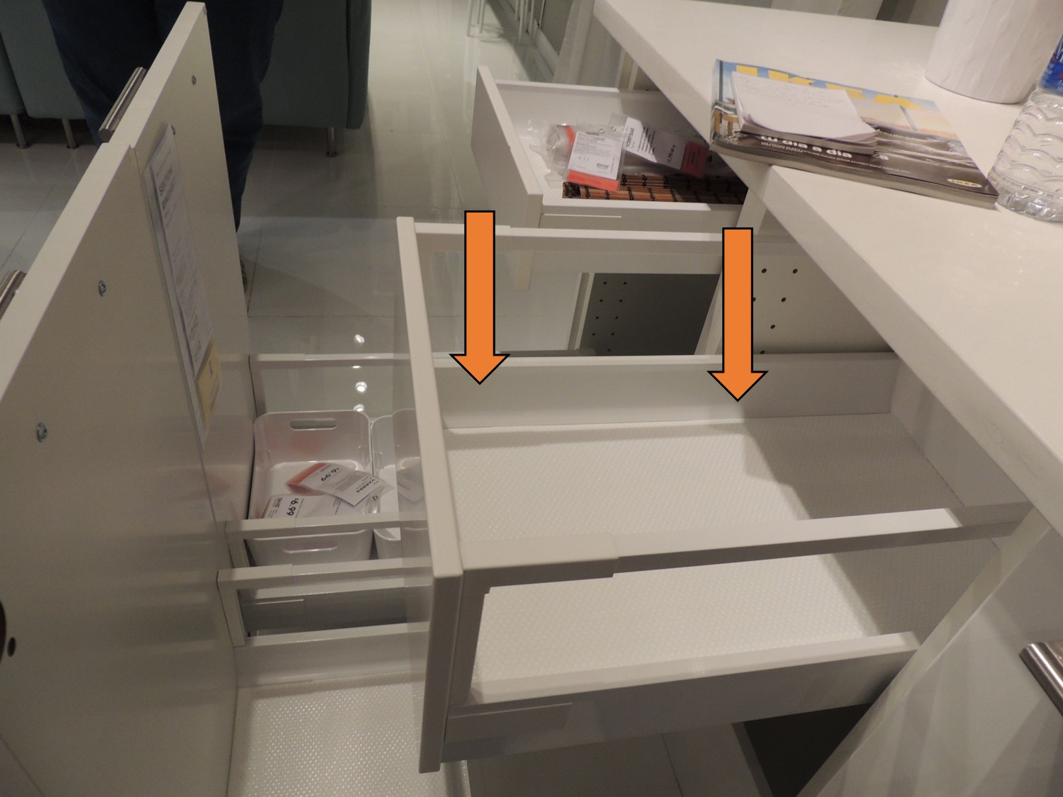 In Cabinet Drawers The Difference Between Ikea S Two Different Kitchen Drawer Types