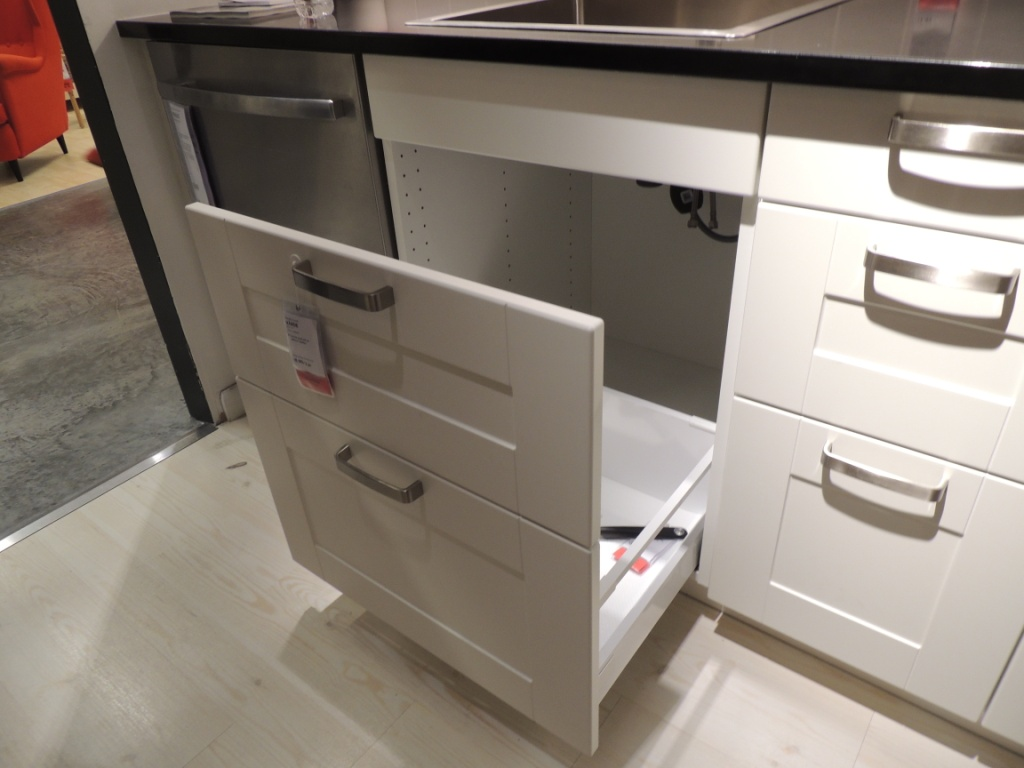 Kitchen Sink Cabinet Tray How Ikea Trash Bin Cabinets Affect Your Kitchen Design