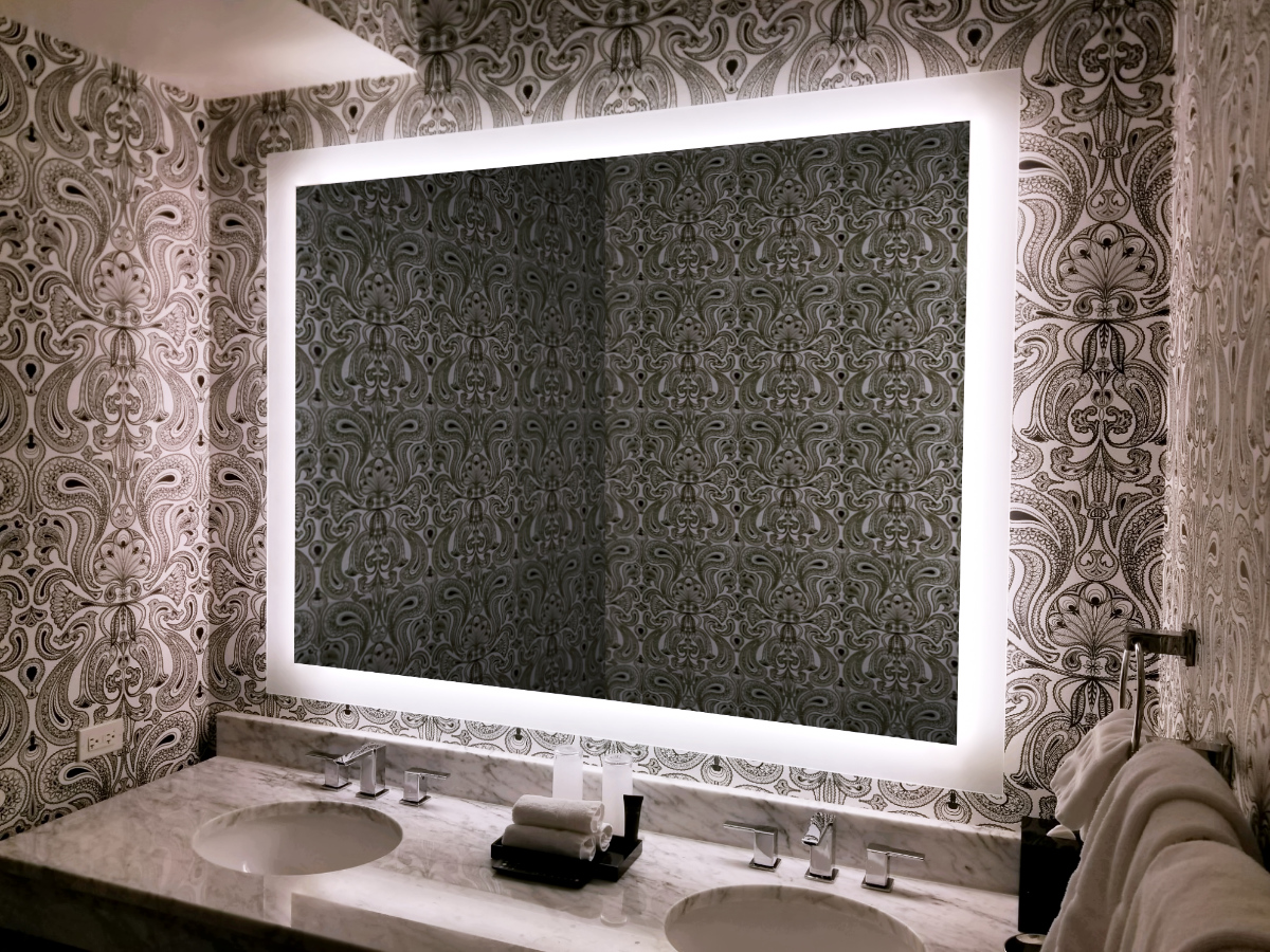 Bathroom Mirror Lighting Plug In System Inspired Led