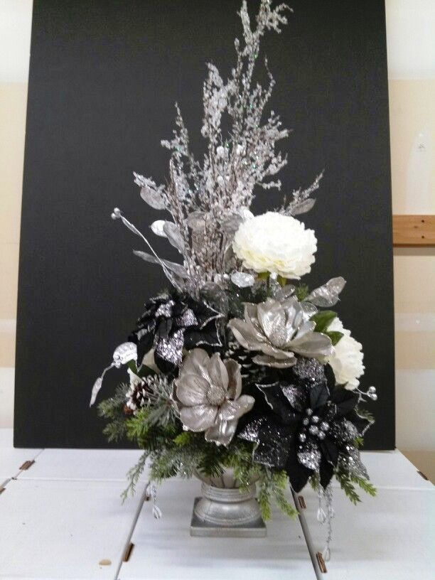 Purple And Green 15 Flower Arrangement Ideas For Christmas · Inspired Luv