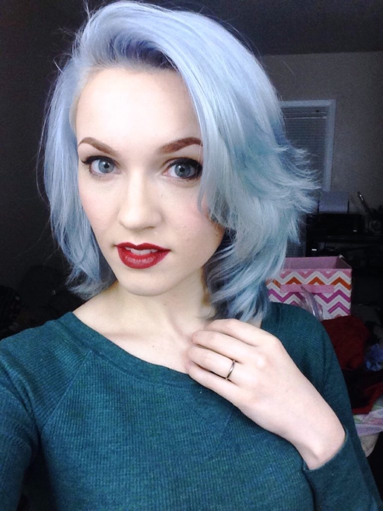 Long Hair Bangs Images 20 Grey Blue Hair Color Trend For Women