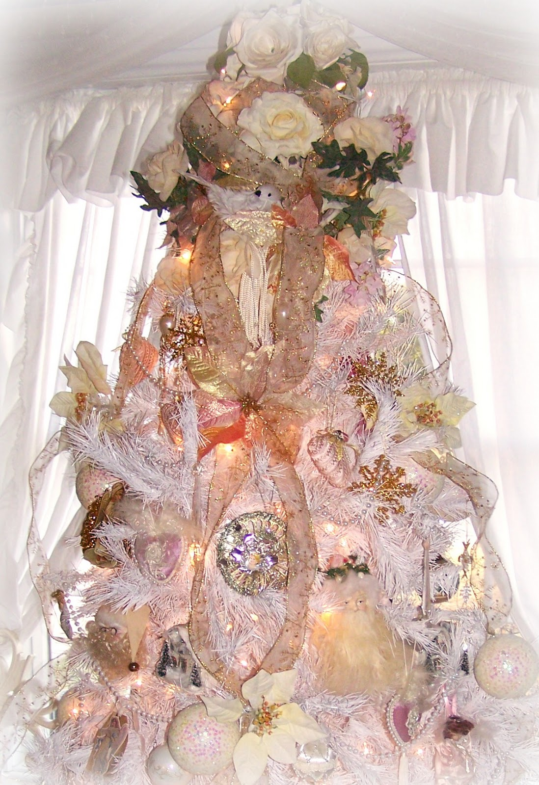 Shabby Chic Awesome White Shabby Chic Christmas Tree