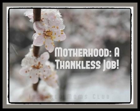 Motherhood―A Thankless Job!