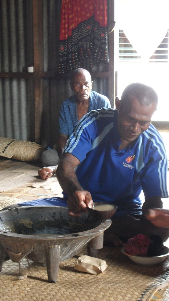 A Kava ceremony at Nakavika Village in Fiji's Namosi Highlands