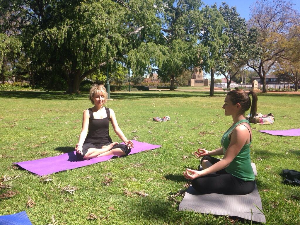 Yoga and meditation with Kym