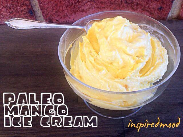 Paleo mango ice-cream makes a delicious, healthy, dairy-free summer dessert