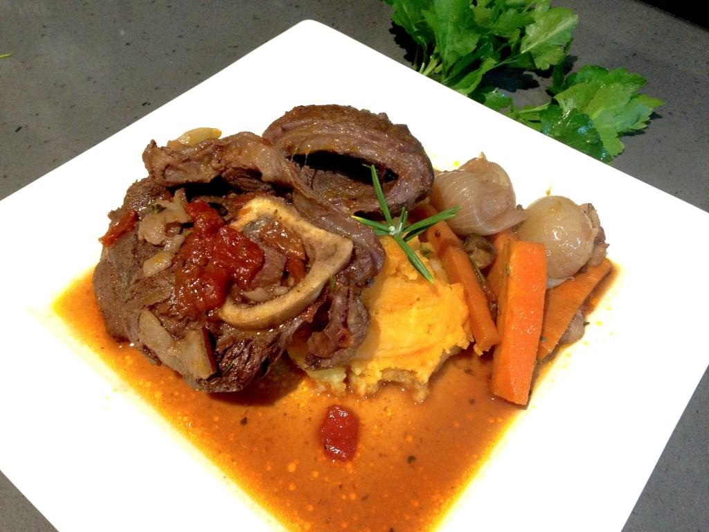 Beef Bourguignon meets Osso Bucco with sweet potato mash