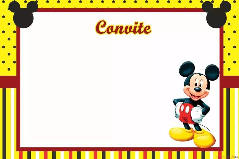 Mickey Mouse Kit Festa Infantil Gratis Para Imprimir