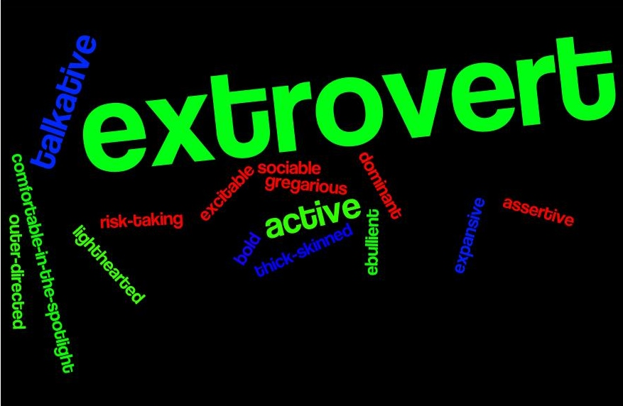 What are typical introvert vs extrovert attributes for Introvert vs extrovert