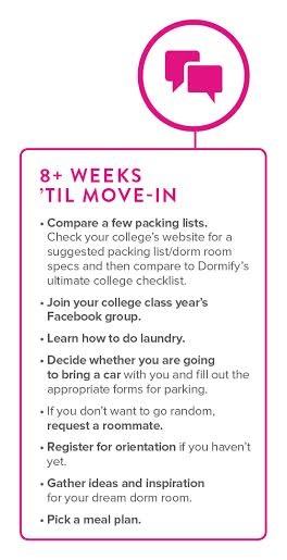 8 Weeks \u0027Til Move In Just Getting Started \u2013 Dormify Blog