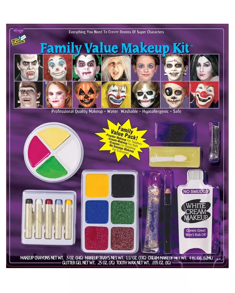21 Teiliges Karneval Halloween Make Up Set Günstige Halloween - Günstige Schminke
