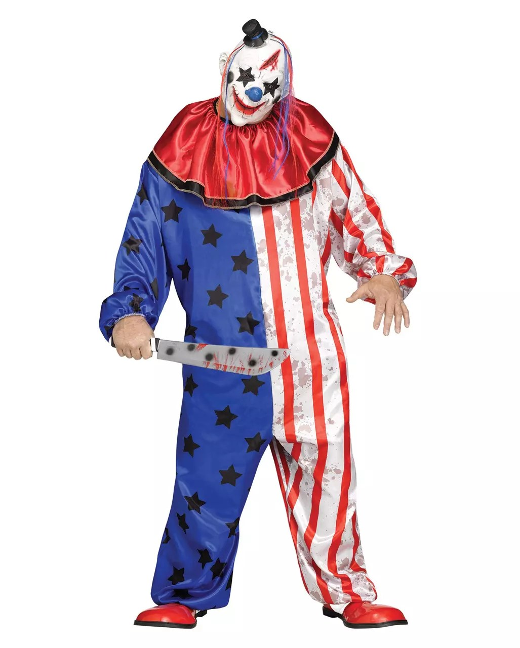 Wanddeko Clown Horror Circus Clown Costume With Mask Plus Size