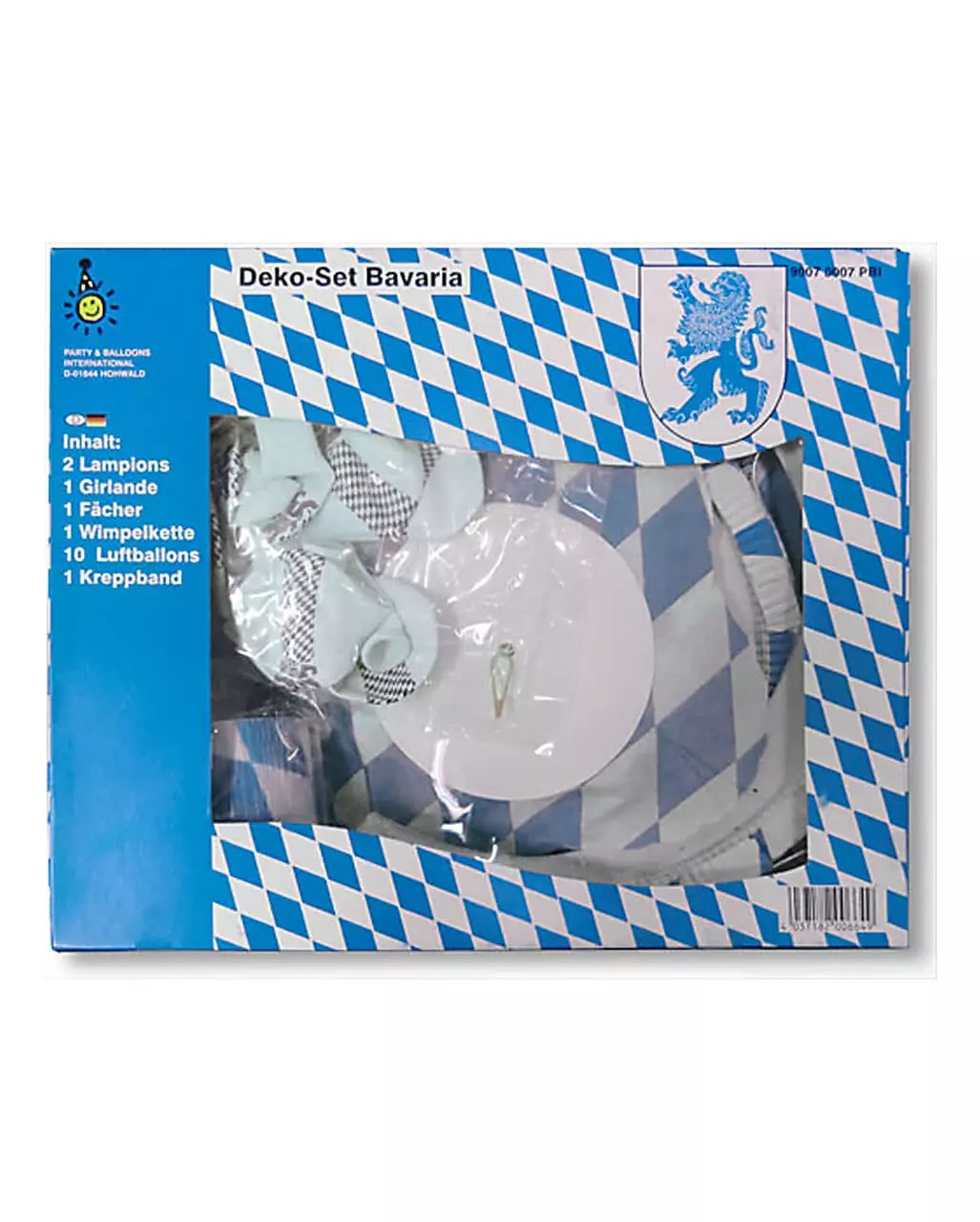 Oktoberfest Mottoparty Decoration Set Bavaria 16 Piece