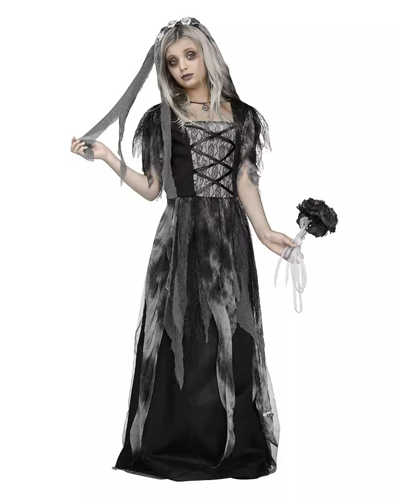 Halloween Kostuem Kinder Vampir Graveyard Bride Child Costume With Veil