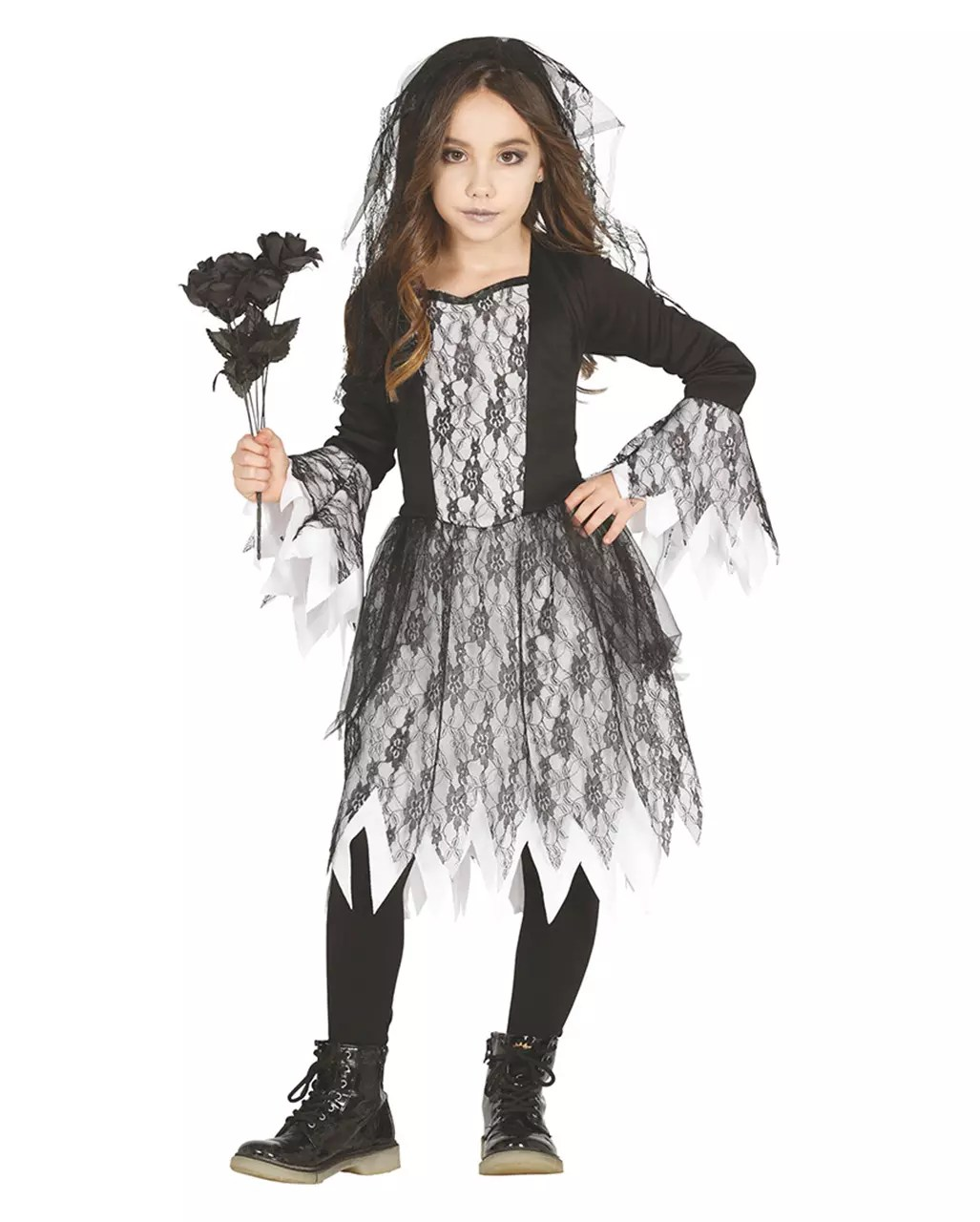 Halloween Kostuem Kinder Vampir Gothic Ghost Girl Costume
