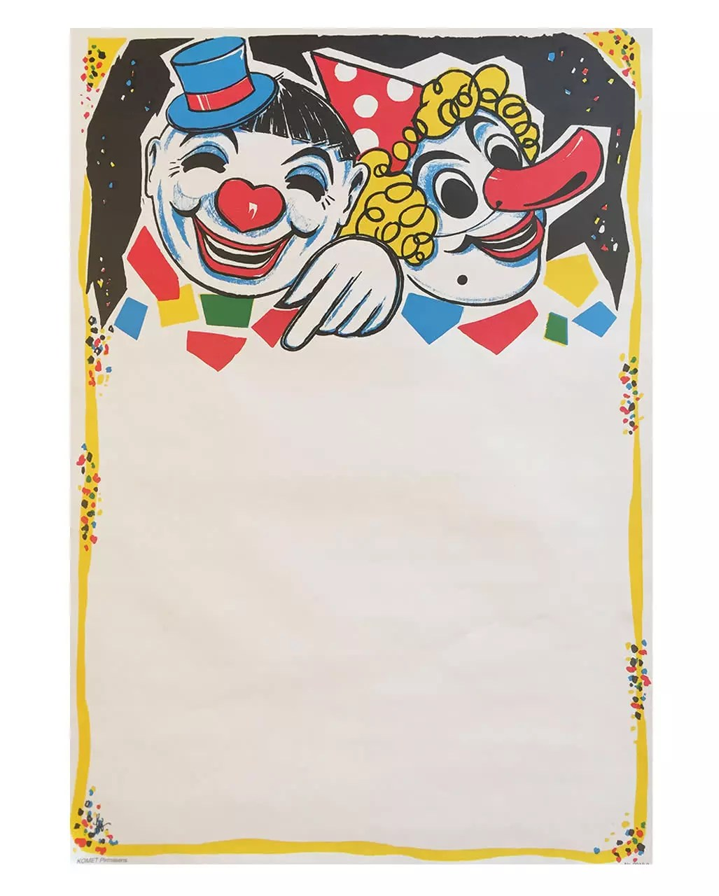 Wanddeko Clown Carnival Posters Clown Duo 6 Pieces