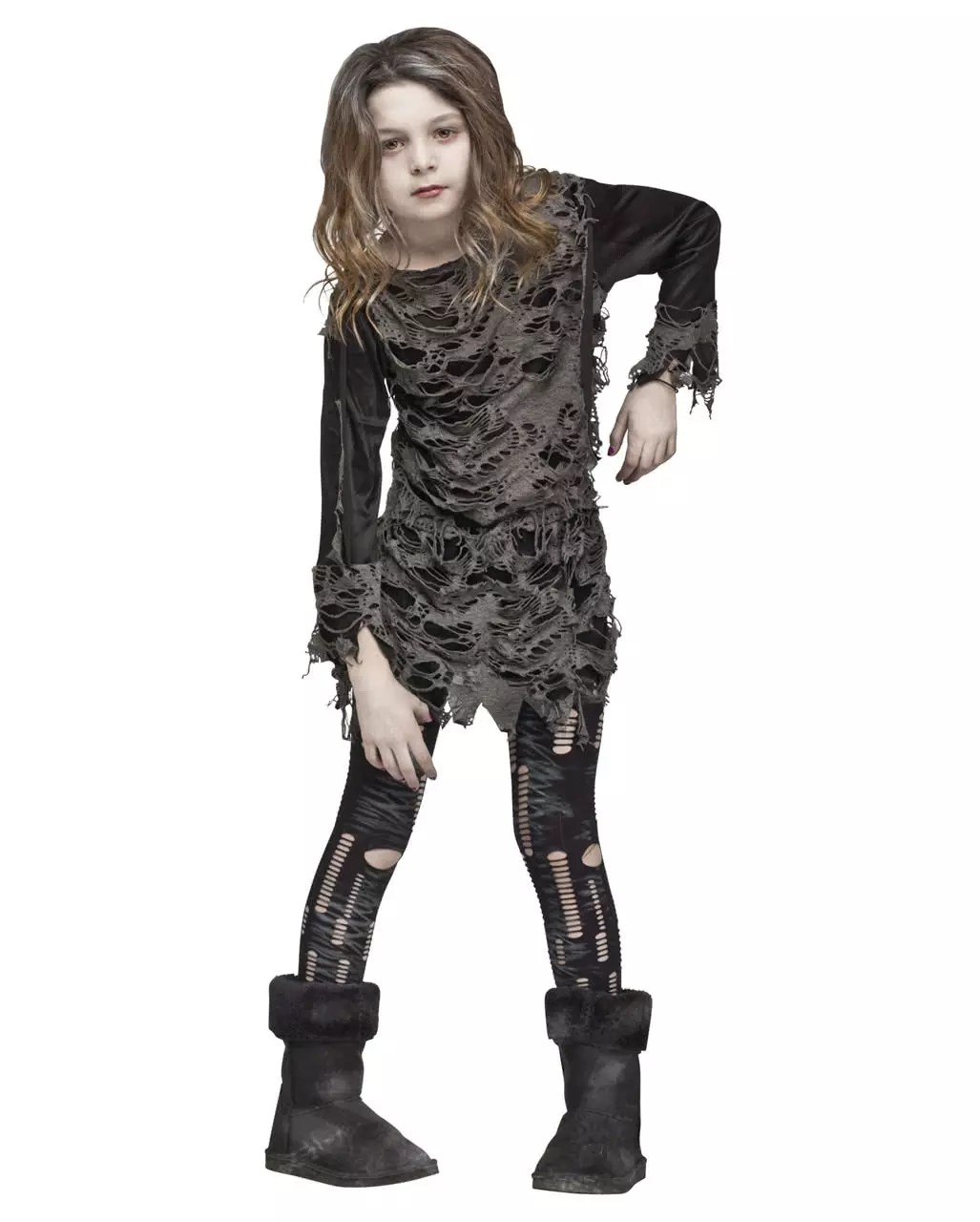 Halloween Kostuem Kinder Vampir Walking Zombie Costume For Girls