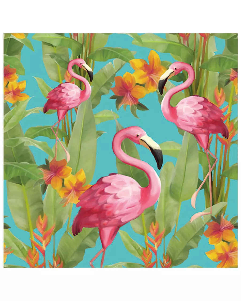 Sommerparty Deko Napkins Flamingo Colorful 20 Pcs
