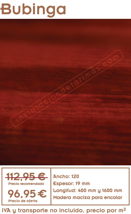 Oferta de tarima de bubinga archivos ofertas de tarima for Precio puertas interior madera maciza