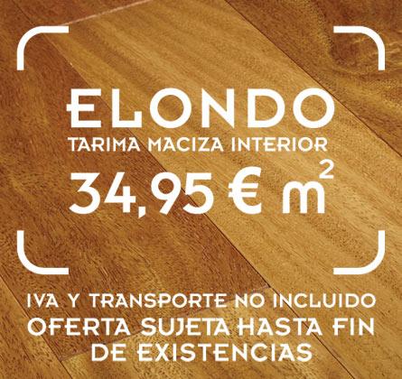 Oferta de tarima de elondo de 120 mm de ancho de lama x 19 mm de espesor y largos de 400 y 750 mm