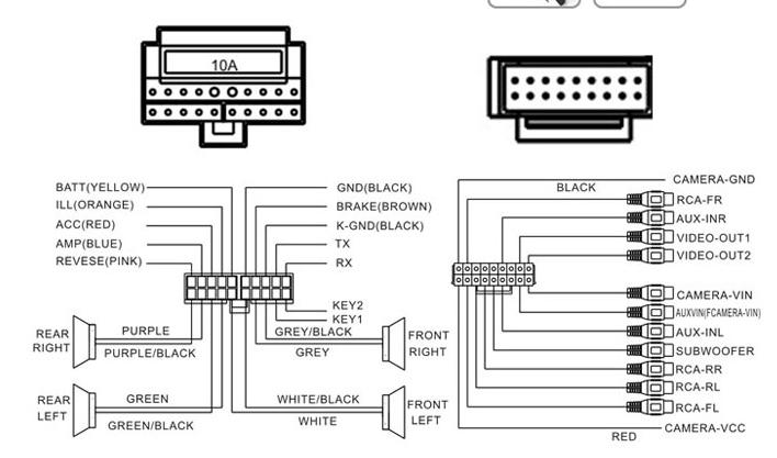fiat punto radio schema cablage