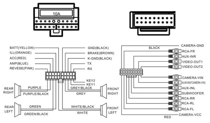 vw stereo schema cablage