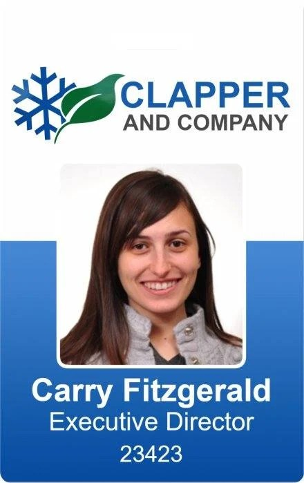 Clapper and Company Photo ID Badge template\u2014InstantCard