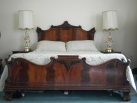 Chinese Chippendale cherry wood mahogany bedroom set ...