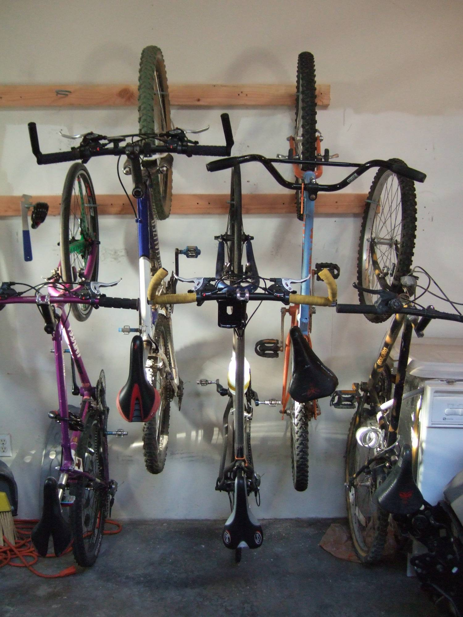 Bike Rack Bike Storage For The Home Or Apartment 8 Steps With Pictures Instructables