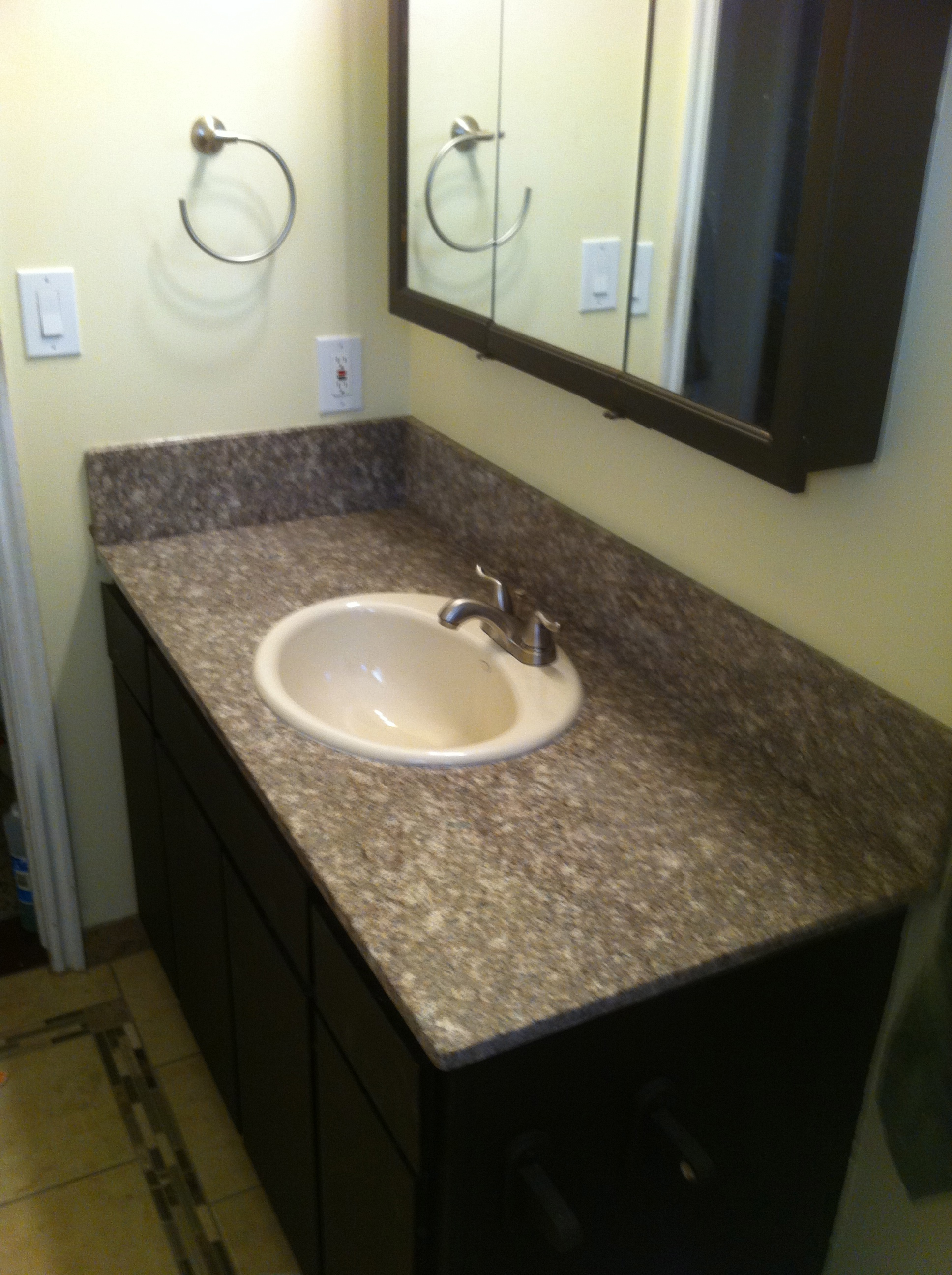 Hack An Inexpensive Granite Table Into A Bathroom Vanity 9 Steps Instructables