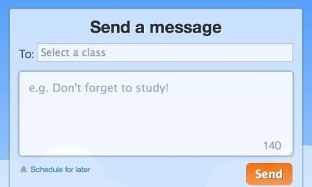 Contact Students and Parents via Text or Email using Remind101